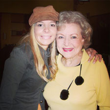 Alison Martino and Betty White