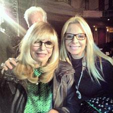 Alison Martino and Nancy Sinatra