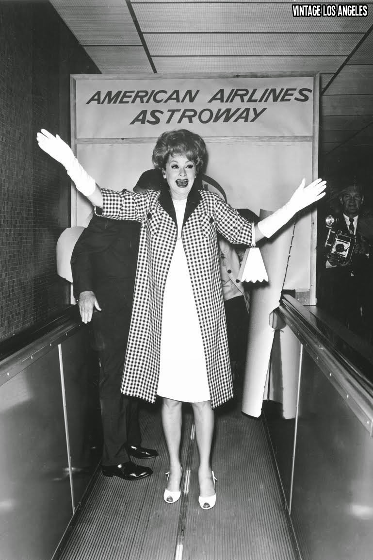 Lucile Ball at the 1963 Astro Walk Dedication Ceremony