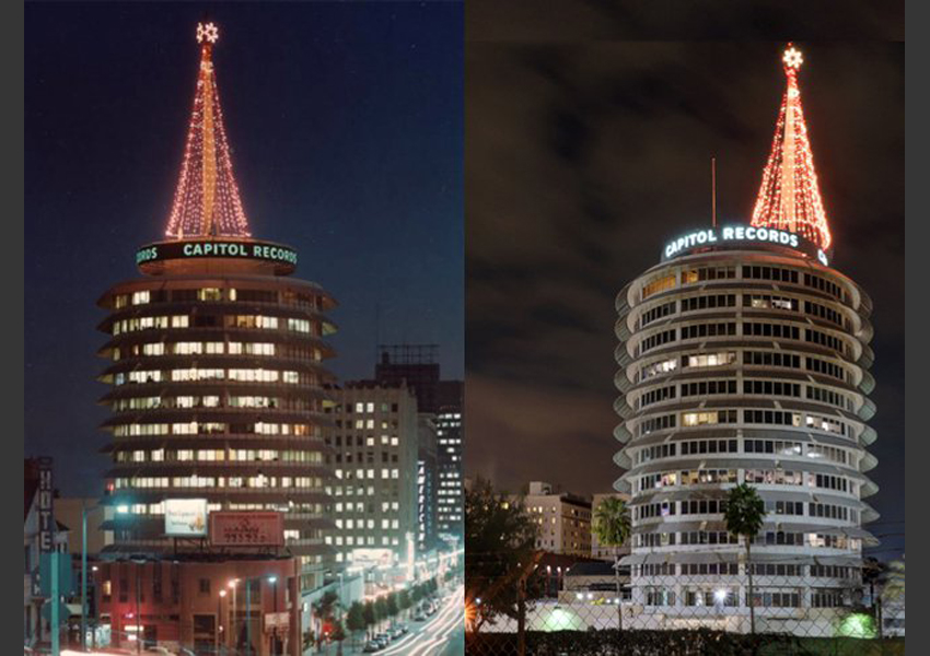 Christmas Time at the Capitol Records Building